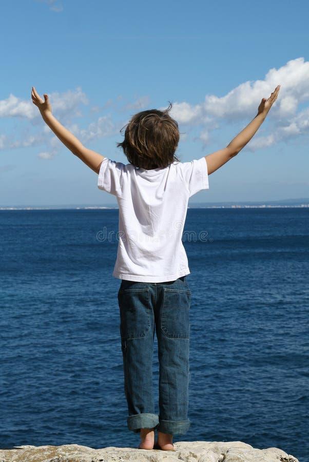 happy child on vacation stock image