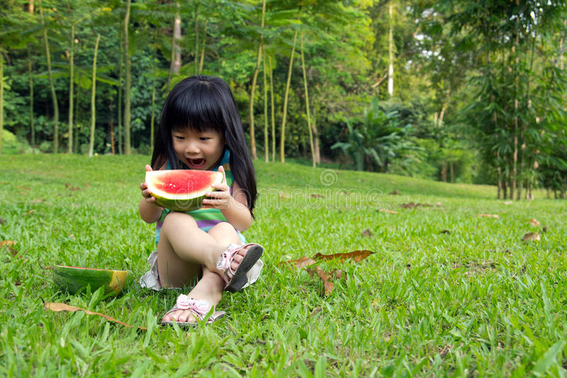 Download Happy Child With Watermelon Stock Photo - Image: 24039482
