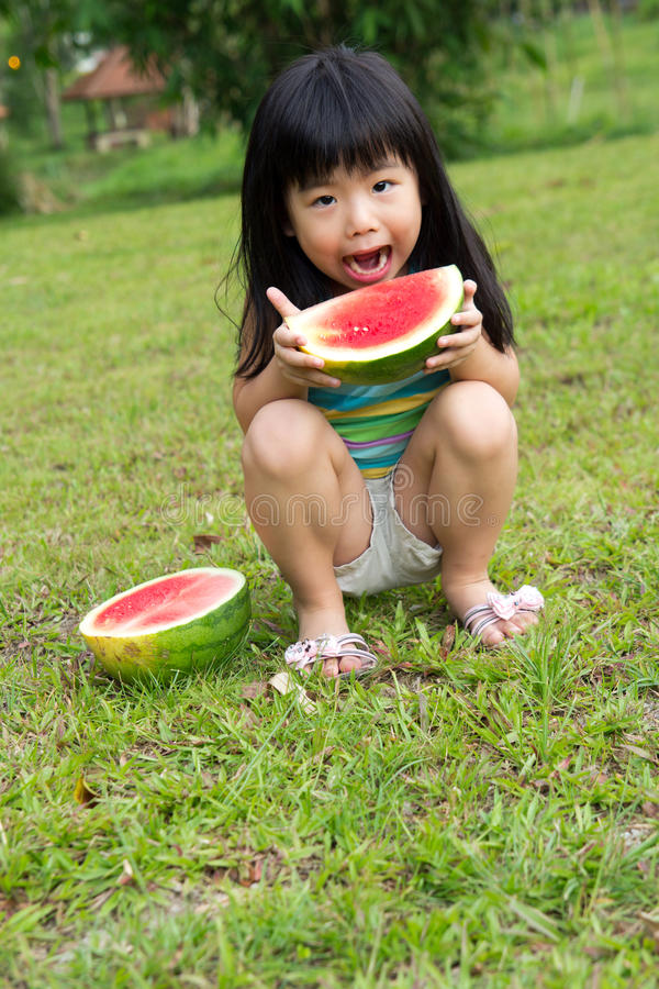 Download Happy Child With Watermelon Stock Image - Image: 24039649