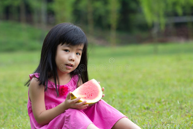 Download Happy Child With Watermelon Stock Photo - Image: 24039714