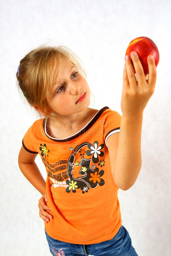 Free Happy Child With A Fruit Royalty Free Stock Photography - 10877297