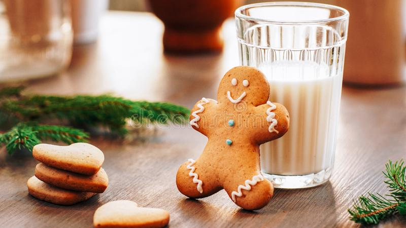 Happy childhood christmas memories gingerbread royalty free stock images