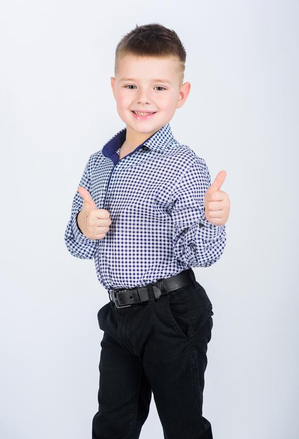 Free Happy Childhood. Kids Fashion. Small Businessman. Business School. Confident Boy. Upbringing And Development. Little Boy Stock Images - 145209414