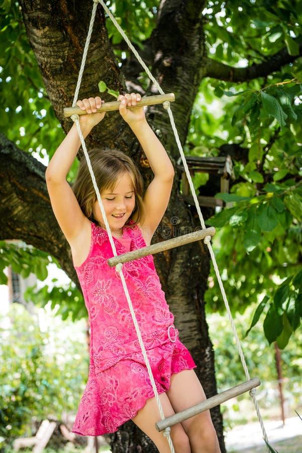 Happy childhood - playing child stock photo
