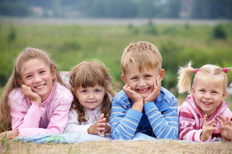 Download Happy children stock image. Image of cute, outdoors, cheerful - 15623017