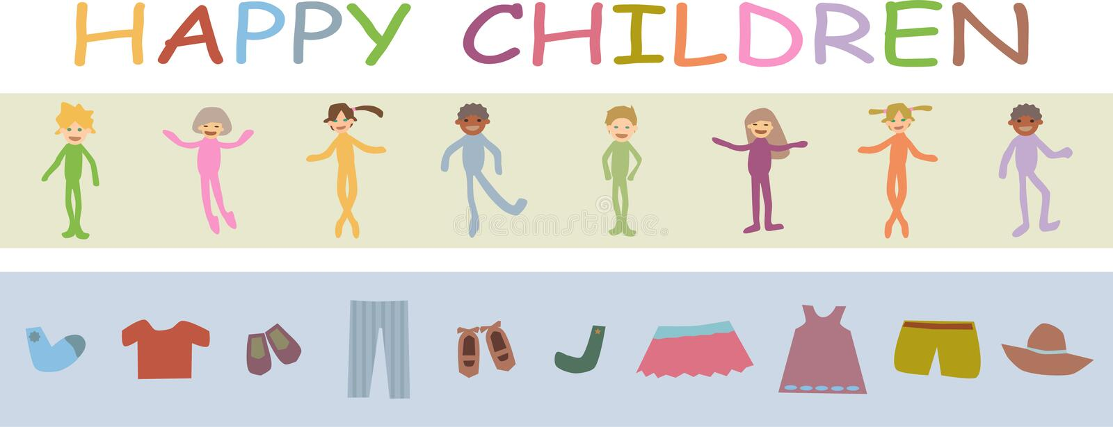 Download Happy children stock vector. Image of promotion, ornament - 8012734