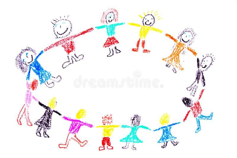 Happy children stock illustration