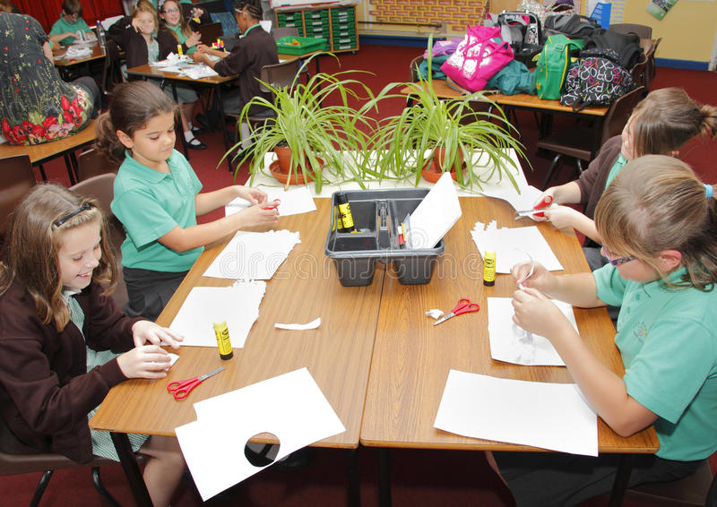 Download School Children In Classroom Editorial Stock Photo - Image of youngsters, desk: 27072043