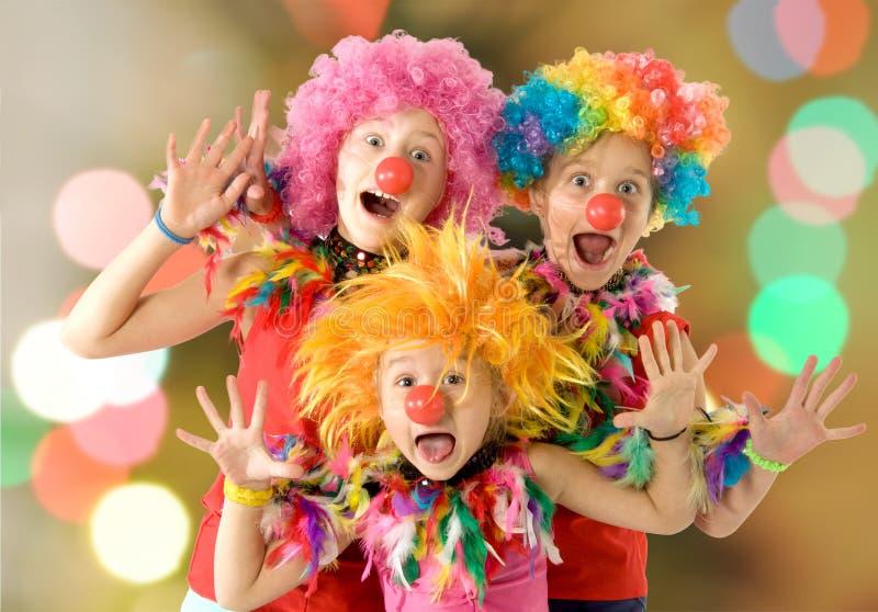 Happy children dancing royalty free stock photo