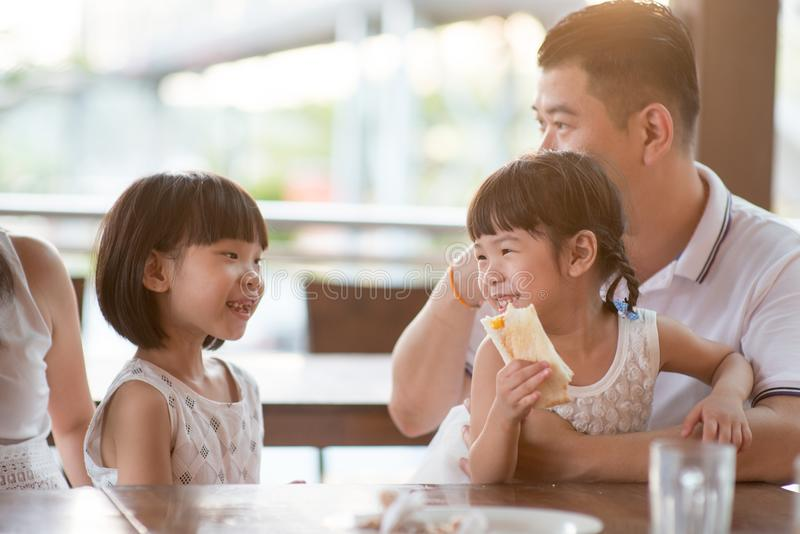 Happy moment of a family royalty free stock image