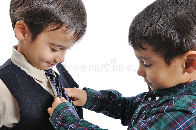 Download Happy Children With Fashionable Clothes Stock Image - Image: 11797071