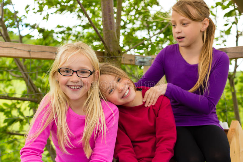 Download Happy Children In The Garden And Laugh Stock Photo - Image of girl, vacation: 27225250