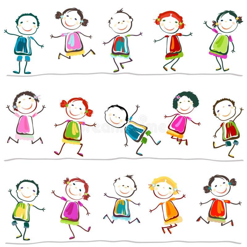 Download Happy children stock vector. Illustration of kids, graphic - 30333642