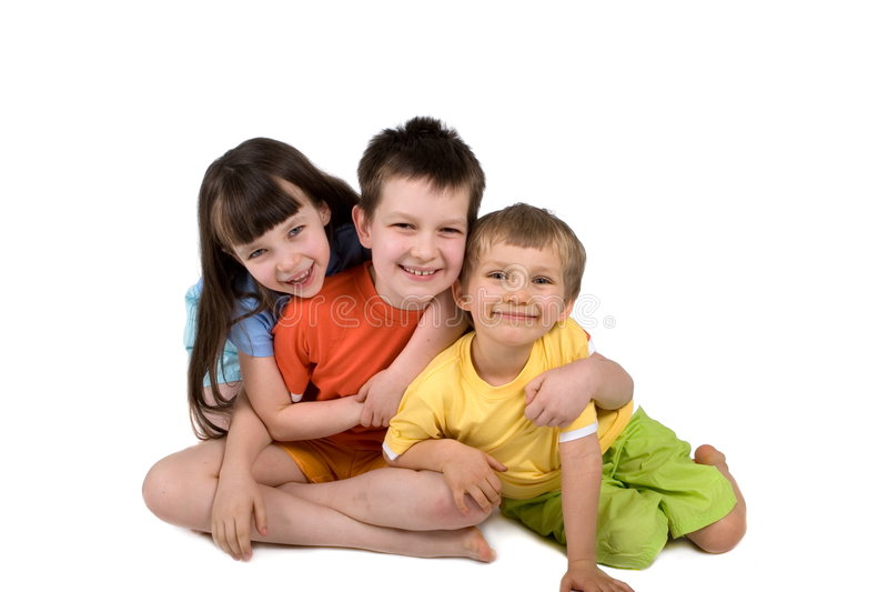 Happy Children Isolated stock images