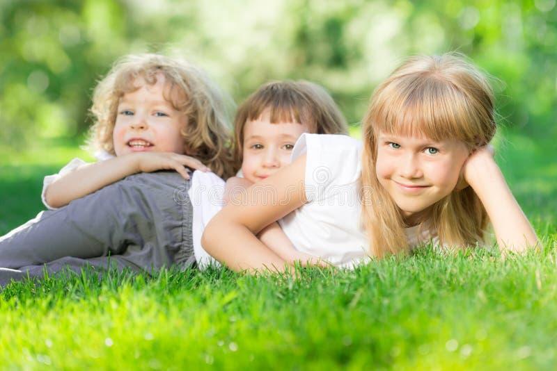 Happy children outdoors
