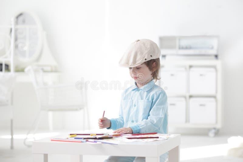 Download Children paint stock illustration. Image of little, learning - 29971057