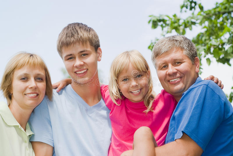 Happy children with parent royalty free stock image
