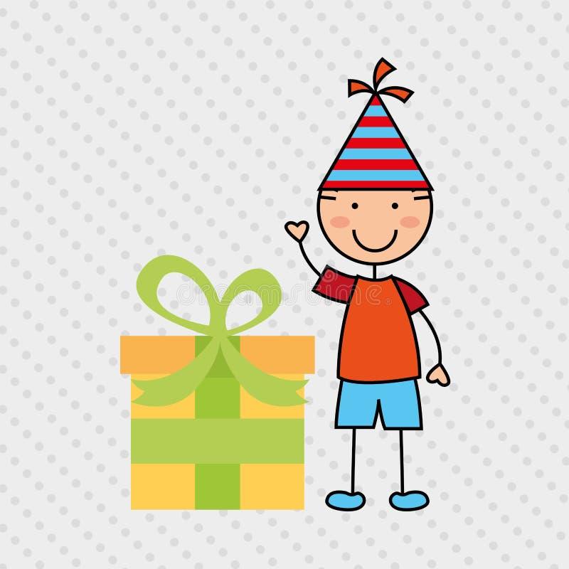 Happy children on party design. Illustration eps10 graphic royalty free illustration