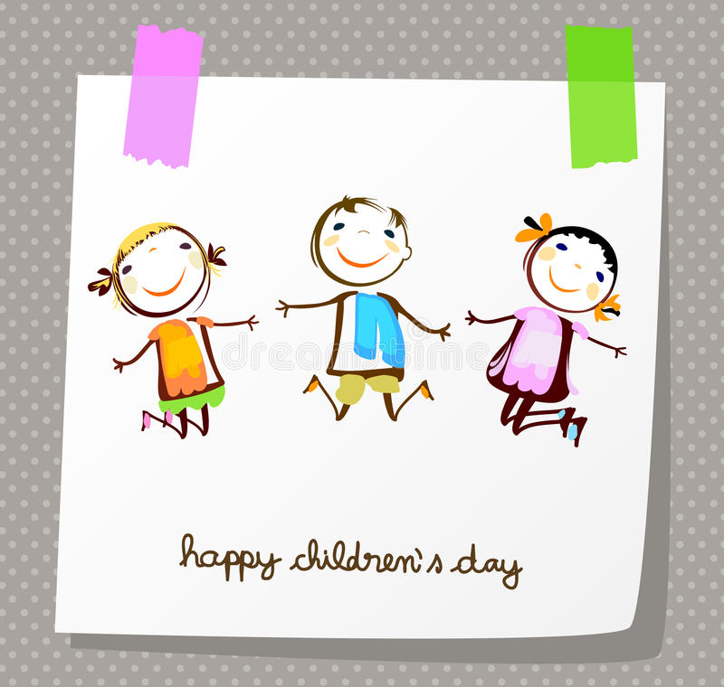 Free Happy Children`s Day Royalty Free Stock Photography - 54561867