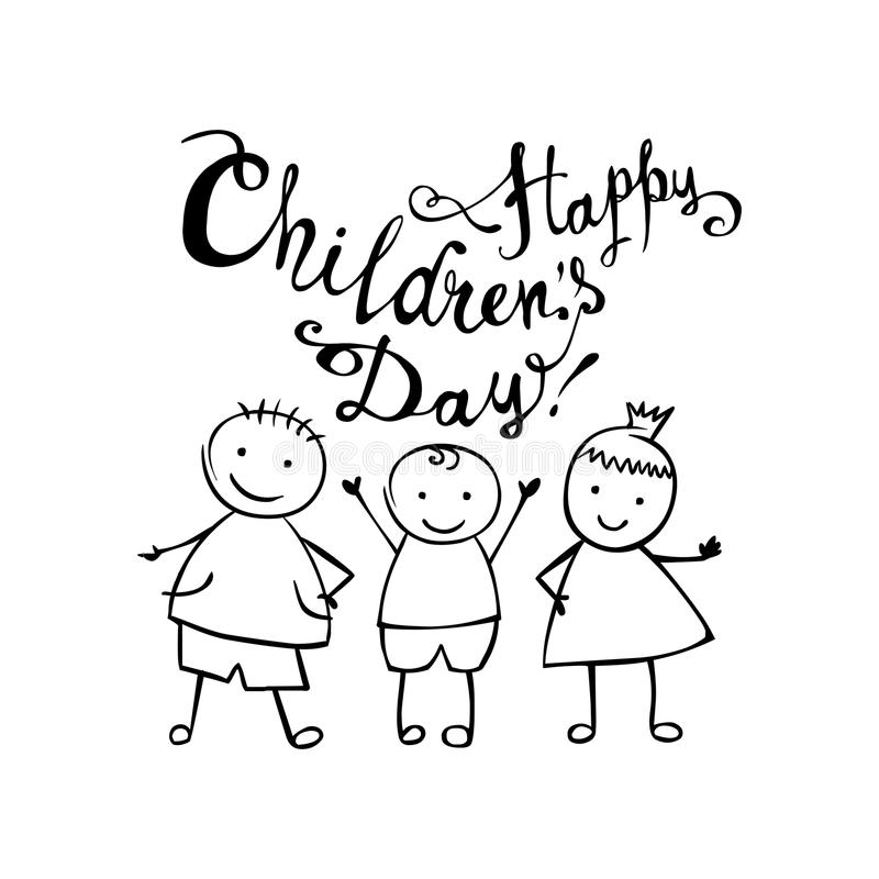 Happy Children`s day. June 1 holiday card vector illustration