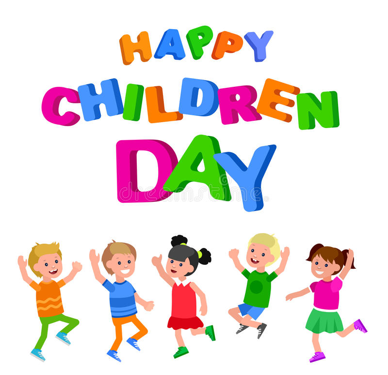 Happy childrens day vector illustration