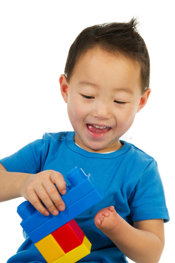 Happy Chinese boy stock images
