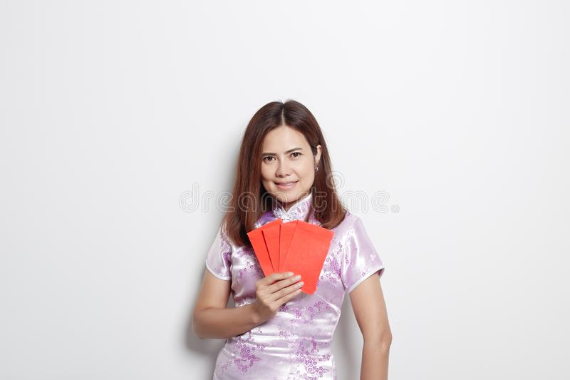 Chinese new year woman dress dress traditional royalty free stock image