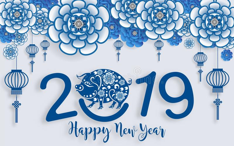 Happy chinese new year 2020 stock vector illustration of - What is the lucky color of the year 2019 ...