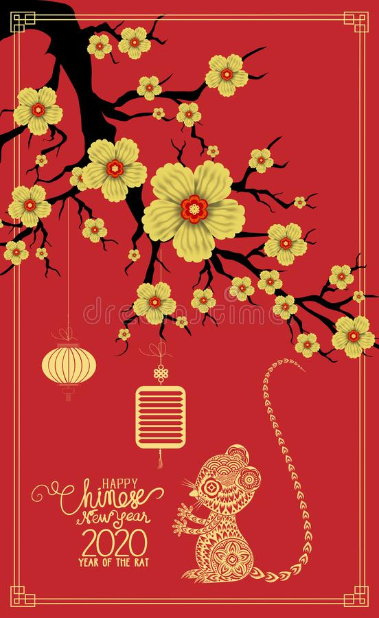 Happy Chinese New Year 2019 year of the pig. Chinese characters mean Happy New Year, wealthy, Zodiac sign for greetings card,. Flyers, invitation, posters stock illustration