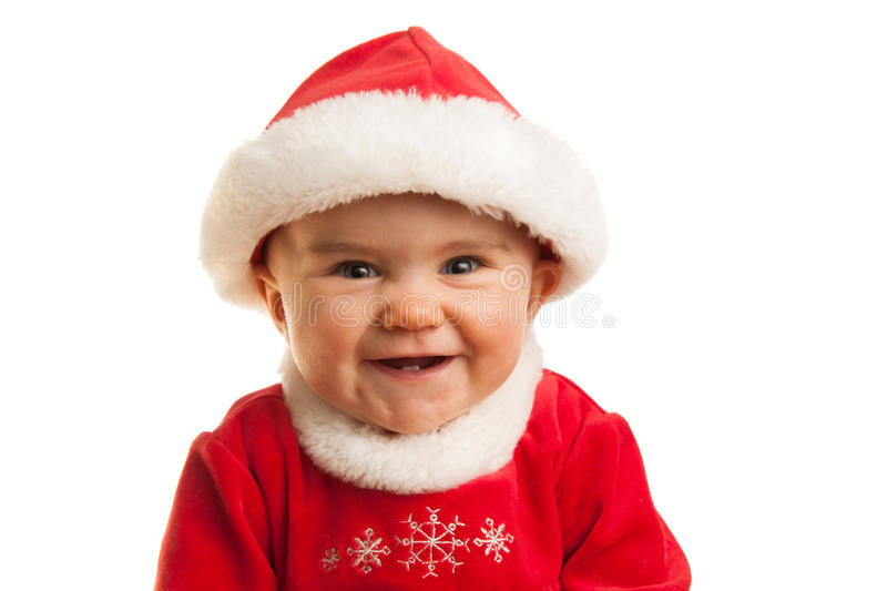 Download Happy Christmas Baby stock image. Image of face, person - 28040307