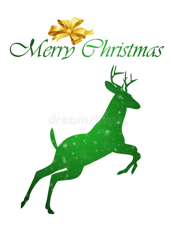 Happy Christmas Deer expression stock photo