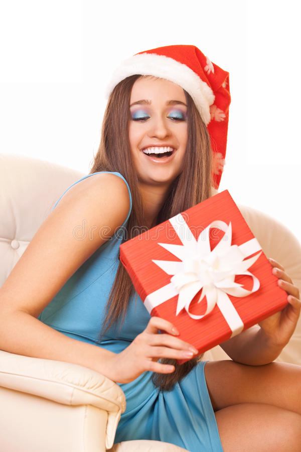 Happy christmas girl royalty free stock photos
