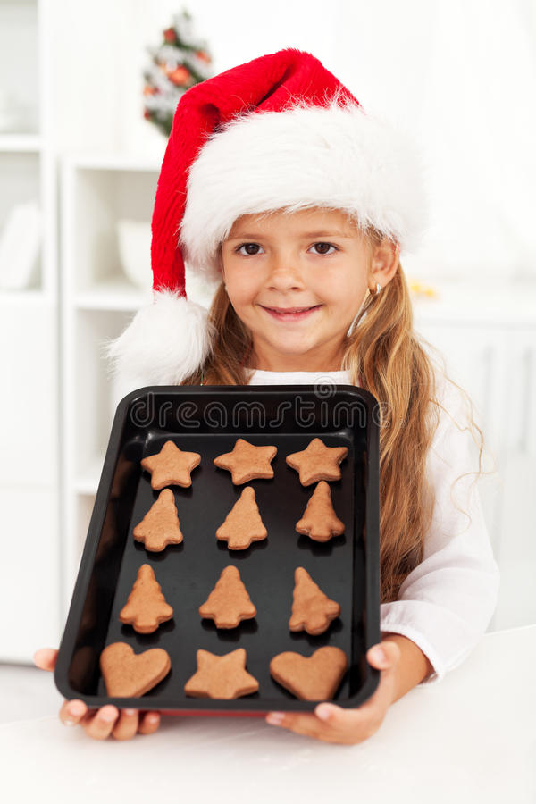 Download Happy Christmas Girl Baking Cookies Stock Photo - Image of happiness, bakery: 21337774