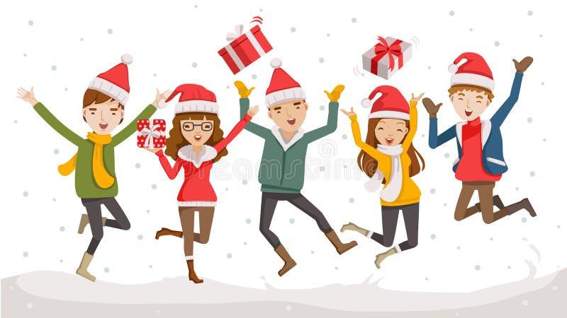 Happy christmas vector illustration