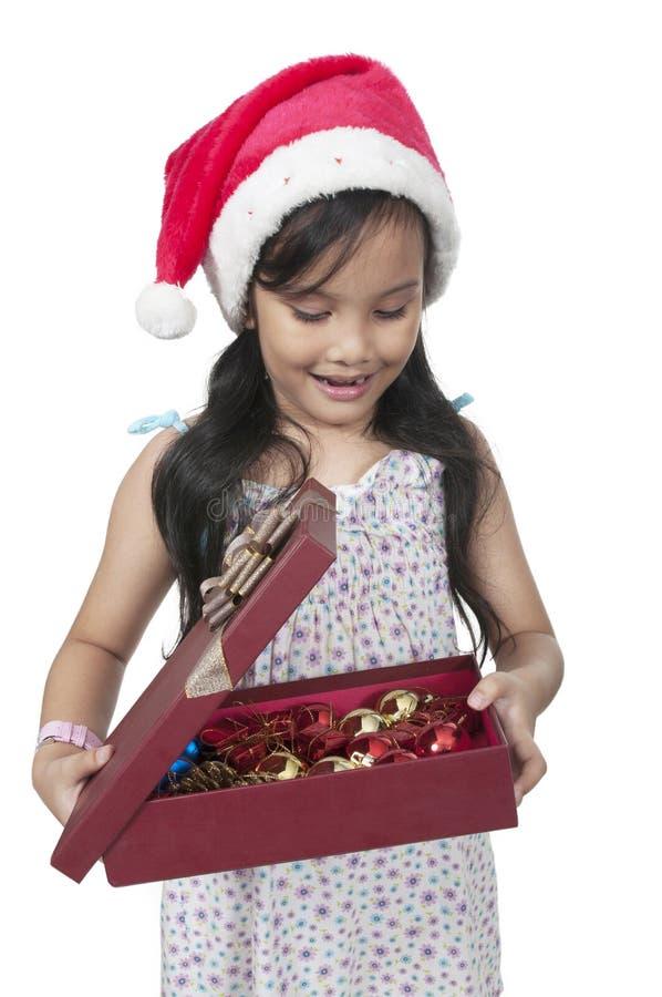 Download Happy Christmas Kid stock image. Image of gift, green - 25084789