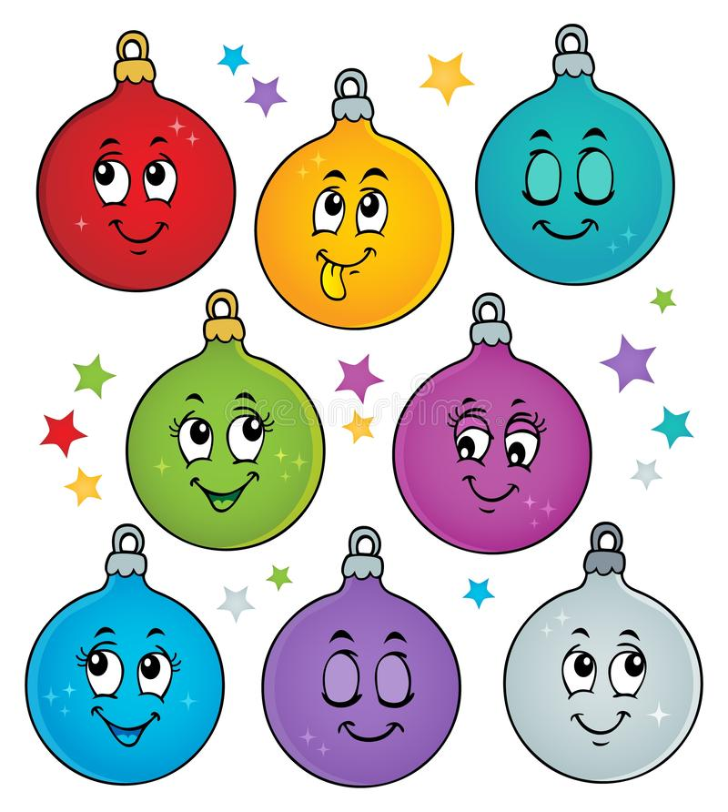 Free Happy Christmas Ornaments Theme Image 1 Royalty Free Stock Images - 165130209