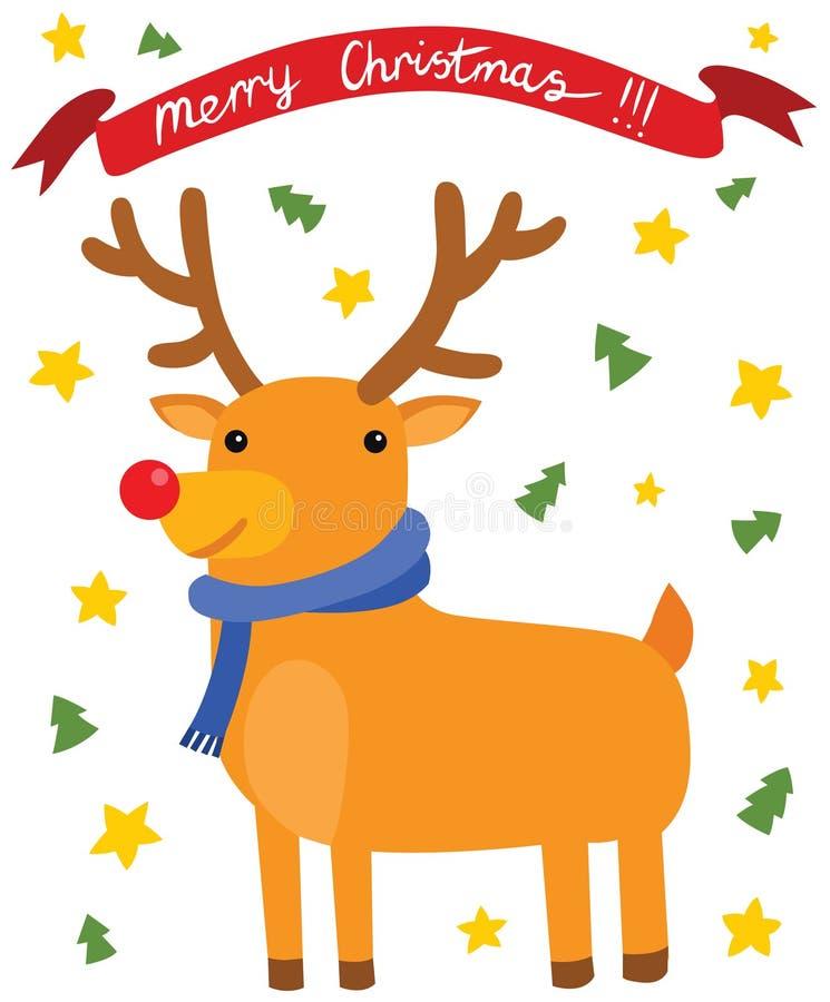 Happy Christmas Reindeer royalty free illustration