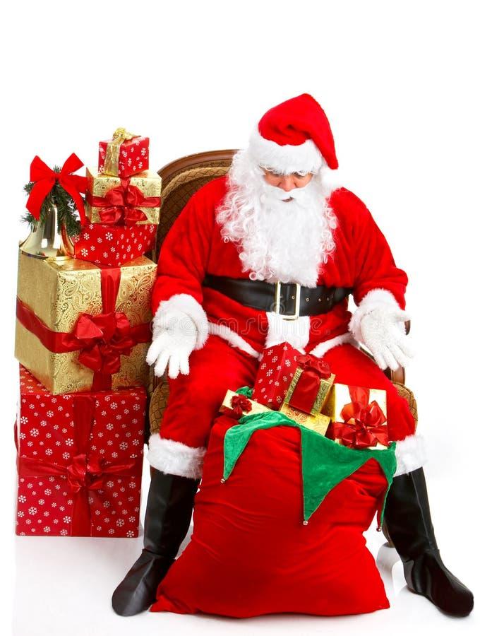 Happy Christmas Santa stock images