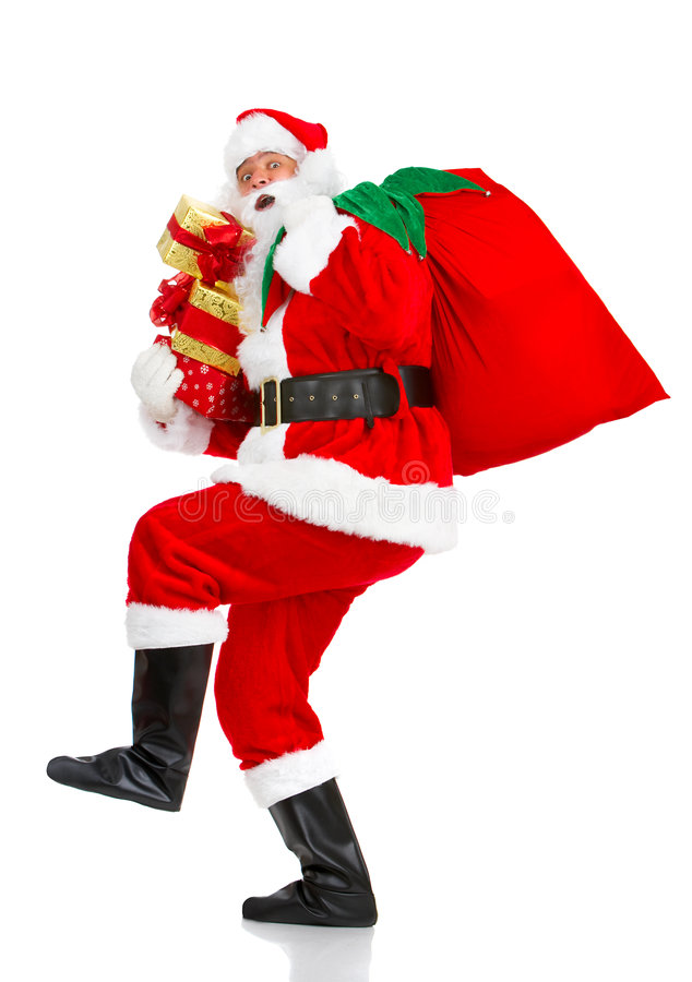 Download Happy Christmas Santa stock image. Image of isolate, present - 7151673