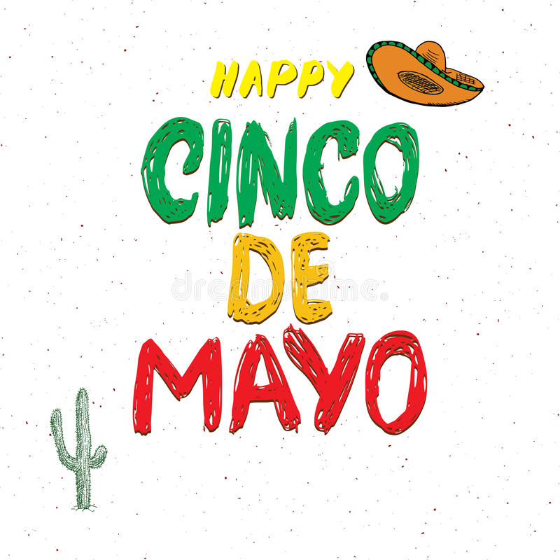 Happy cinco de mayo greeting card hand lettering mexican holiday download happy cinco de mayo greeting card hand lettering mexican holiday vector illustration isolated m4hsunfo