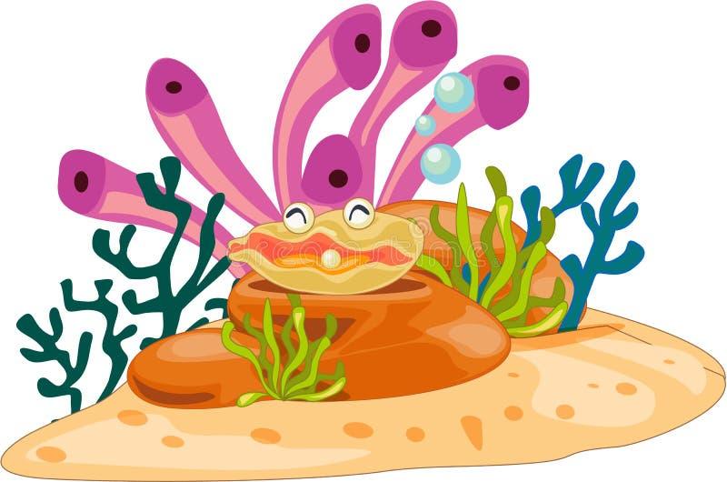 Happy. Bubbling away in the ocean vector illustration