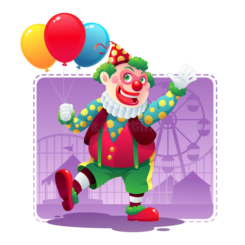 Download Happy Clown stock vector. Image of green, clown, holiday - 24847211