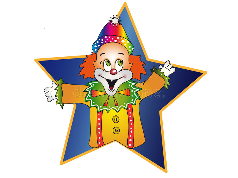 Happy clown stock illustration