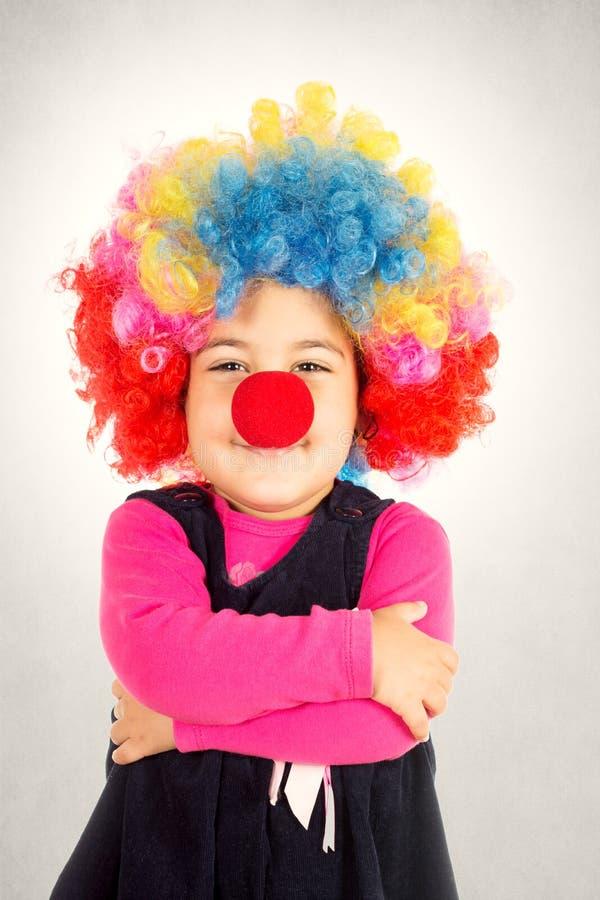 Happy clown stock image