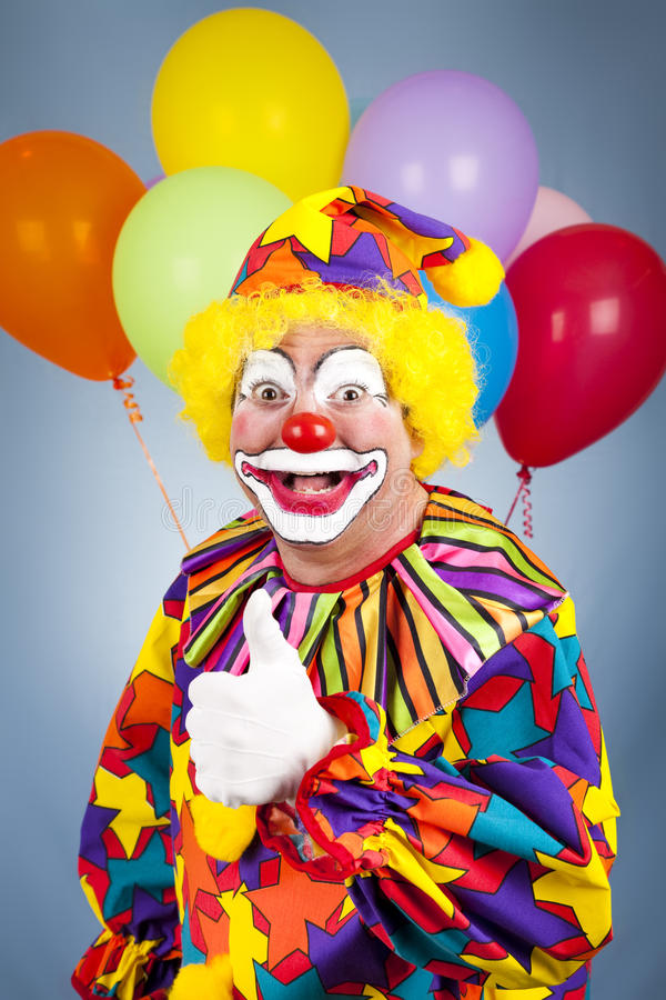 Download Happy Clown Thumbs Up stock photo. Image of gesture, character - 14047640