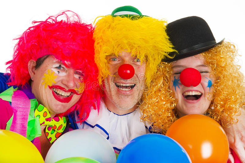 Download Happy clowns stock image. Image of comic, five, dressed - 18348823