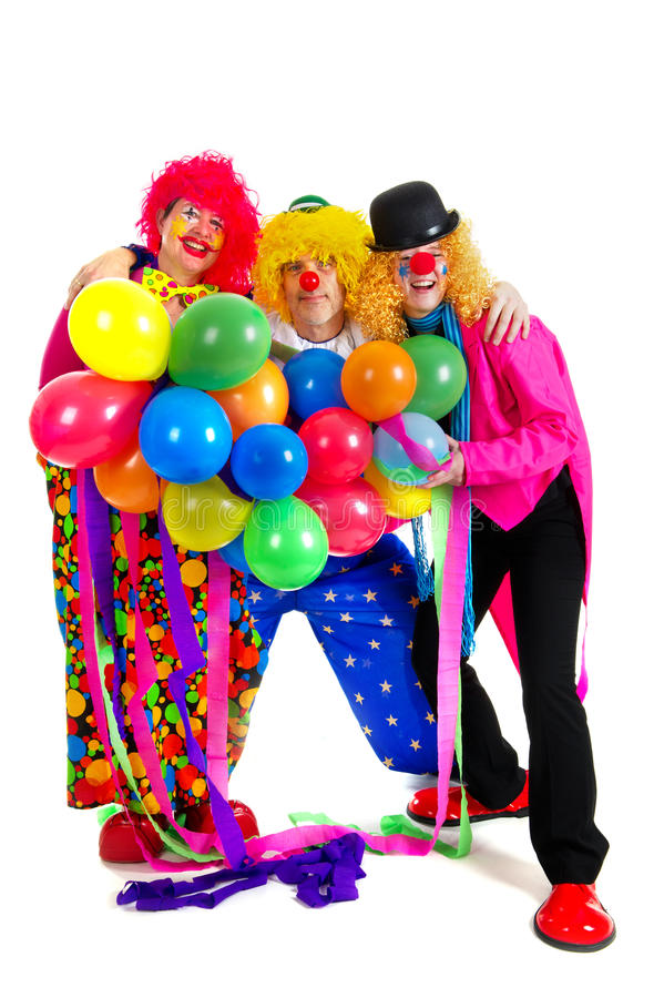 Download Happy clowns stock image. Image of entertainment, dressed - 18458465