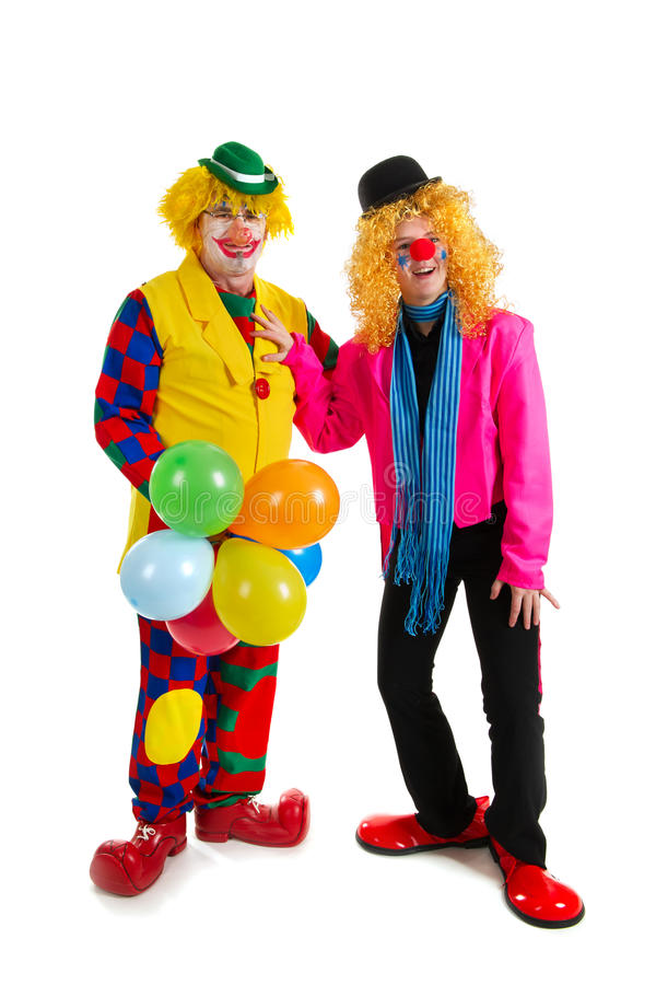 Download Happy clowns stock image. Image of white, happy, costuimized - 18458635