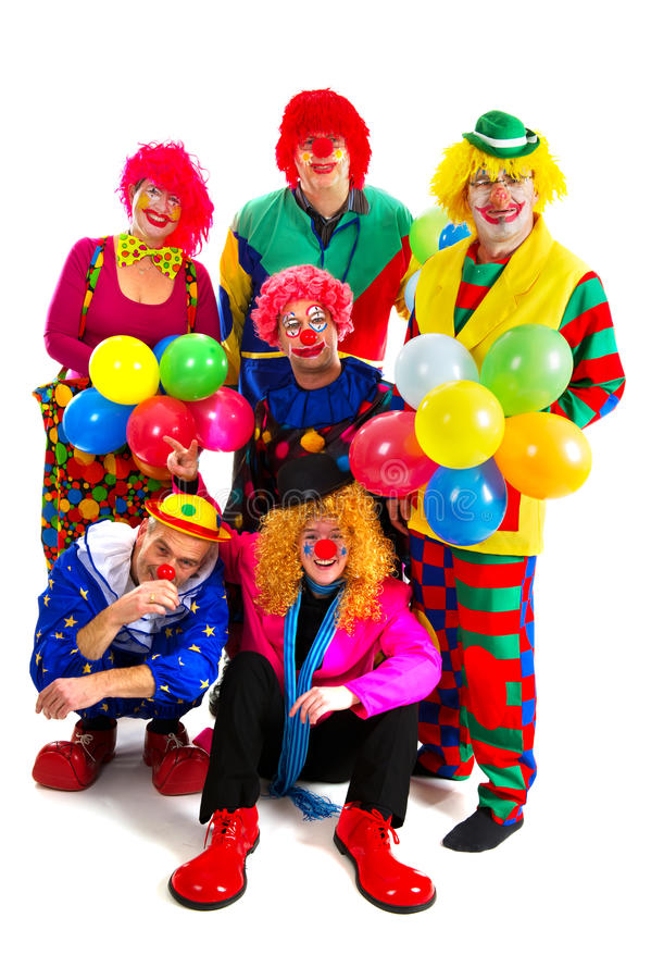 Download Happy clowns stock image. Image of comicals, make, happy - 18458717