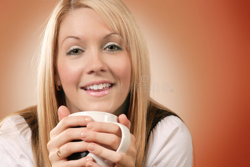 Happy Coffee Drinker 2 Stock Photography